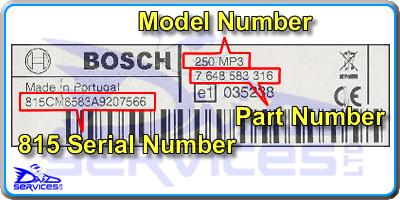 Bosch Radio Code Decode Unlock By Serial Number