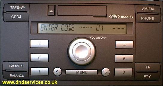 radio decoding instantly decoding visteon ford 5000 c. Black Bedroom Furniture Sets. Home Design Ideas