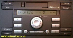 ford 5000 c radio cassette 5000c dnd services ltd. Black Bedroom Furniture Sets. Home Design Ideas