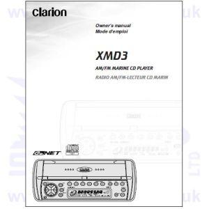 Clarion Marine radio Cmd6 manual