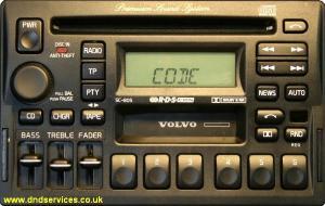 volvo radio sc805 unlock codes my volvo serial nr is yv1l