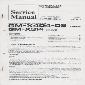 gm-x404-02 / gm-x314 pioneer
