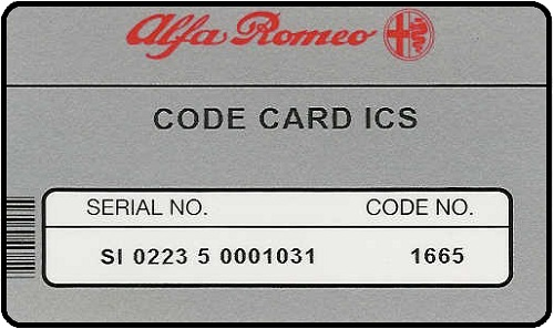 Porsche Radio Code Card with Code **Please read instructions below**