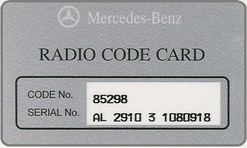 Faq 39 s code card dnd services ltd for Mercedes benz radio code